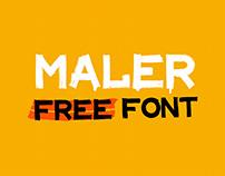 MALER Font - Free Latin/Cyrillic