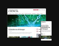Investigación y Ciencia / Web Design