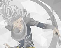 Diana - Ilustração digital (vetor)