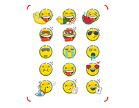 Emoji and stickers
