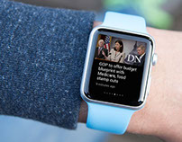 Deseret News Apple Watch App Design