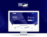 Blockchain ICO promo site