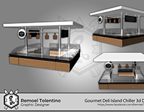 Food Cart, kiosk, booth 3d Designs