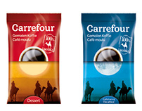 """Carrefour"" coffee packaging design"