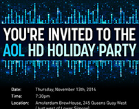 AOL Canada - HD Holiday Party evite