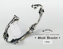 Skull cuff bracelet - TYVODAR
