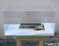Scale model of the swimming pool for SULYK Architects.