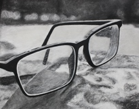 Glasses Charcoal Drawing Series (2014)