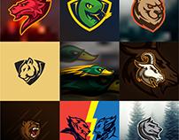 Sports style logo marks.