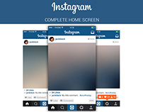 FREE | Instagram Home Screen PSD Layout