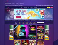 Website for online casino gambling