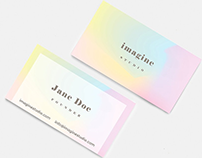 Gradient Colours Using in Business Cards for Inspiratio