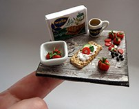 Polymer Clay Food, Miniature Sculpture