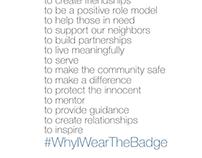 #WhyIWearTheBadge