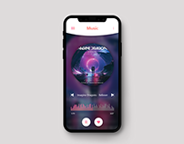 Iphone X/XS Music Player Concept Design