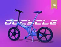 Gocycle — концепт лендинга современных велосипедов