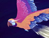 Parrot of light
