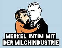 Illustration/Cartoon: Protests in Berlin EMB EU