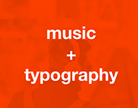 music + typography