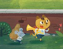 Illustration for Kindergarten Music Textbook