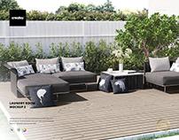 Garden Furnitures & Cushions Mockup