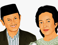 People Illustration  (  B. J. Habibie )