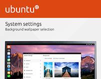 Ubuntu Wallpaper System Settings