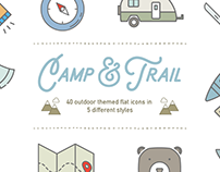 Camp & Trail Recreation Icons