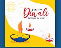 Happy Diwali free vector template