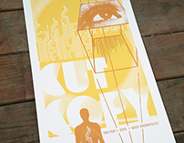 Cut Copy Hand Printed Gig Poster