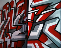 Angel Red. Spray Can Art Style (Graffiti Hip Hop)