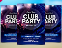 Free PSD Flyer Template For Club Party