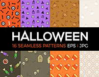 Halloween seamless patterns.