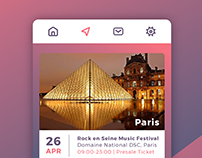 Eventday - Mobile User Interface Concept.