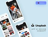 Unsplash App Design Concept - (Freebie)