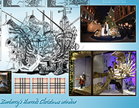 Concept work for Burberry's Harrods Christmas window.