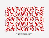 Sanguine typeface