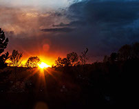 Panoramic. Sunset. Coquitlam.