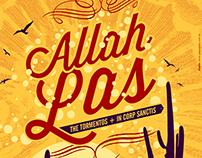 Poster show de Allah Las en Argentina