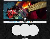 Макет сайта и для интернет платформы для музыкантов EVO