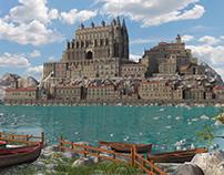 Fantasy Environment 3d town