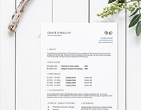 Affordable, Clean Resume Templates