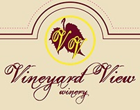 Vineyard View Winery Label Concepts