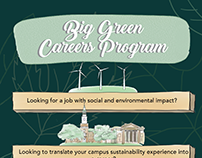 Big Green Careers Program poster