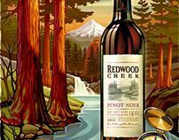 Red Wood Creek Pinot Bottle