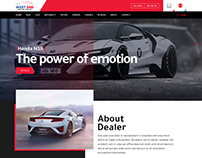Dealer website landing page design