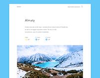 Almaty City Guide Design Concept