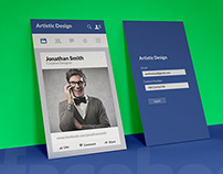 Facebook newsfeed business card
