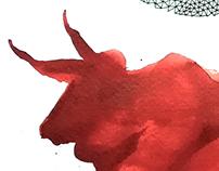 Cabestro rojo (Meek red bull)