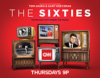 CNN's The Sixties - Print Campaign